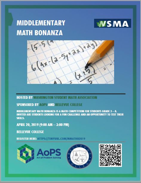 Flyer for Middlementary Math Bonanza